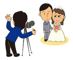 結婚写真,撮影